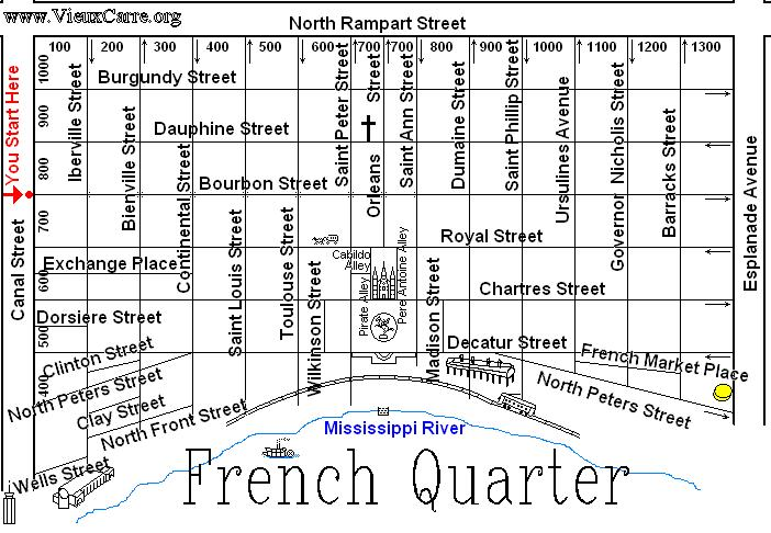 Comprehensive image for map of new orleans french quarter printable